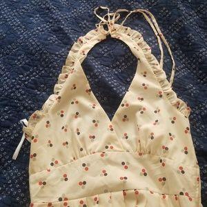 Modcloth Cream Halter Dress